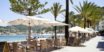 Restaurang på hotell Los Geranios i Puerto de Sóller på Mallorca.