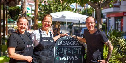 I Los Gigantes & Playa de la Arena på Teneriffa finns det gott om restauranger.