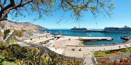 Hamnen vid hotell Madeira Bright Star i Funchal på Madeira, Portugal.