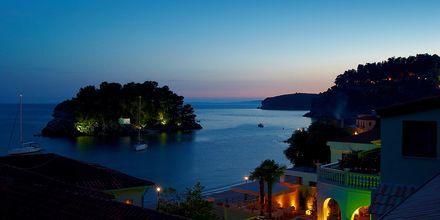 Utsikt från hotell Maistrali på Parga, Grekland.
