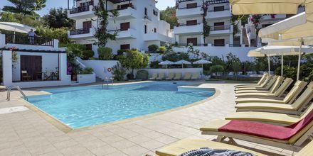 Poolområde på Hotell Maistros på Skopelos.
