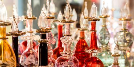 Shoppingen i Makadi Bay är begränsad, men det finns bland annat orientaliska parfymbutiker att botanisera i.