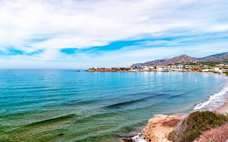 Strand i Makrigialos på Kreta, Grekland.
