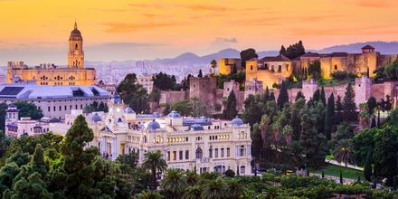 Kvällsvyer över Malaga.