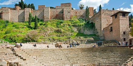 Den romerska teatern i Malaga, Spanien.