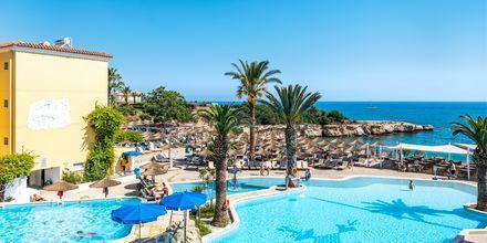 Poolområdet på hotell Malama Beach Holiday Village i Fig Tree Bay på Cypern.