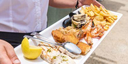 På Malama Beach Holiday Village serveras vällagade rätter.