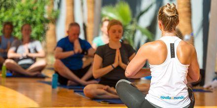 Yoga på hotell Malama Beach Holiday Village i Fig Tree Bay på Cypern.