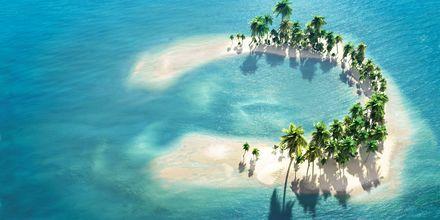 Maldiverna består av hela 1 200 små korallöar, indelade i 26 mindre ögrupper, så kallade atoller.