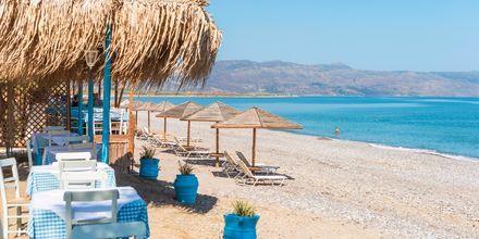 Strand i Maleme på Kreta, Grekland.