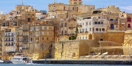 Hamnen i Maltas huvudstad Valletta.