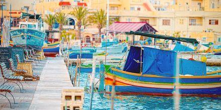 Fiskebyn Marsaxlokk på Malta - väl värd ett besök!