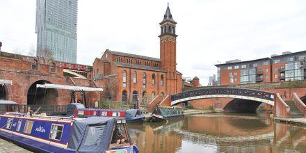 Kanalen i Castlefield, Manchester.