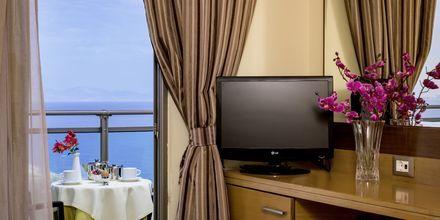 Dubbelrum på hotell Manousos i Rhodos stad, Grekland.