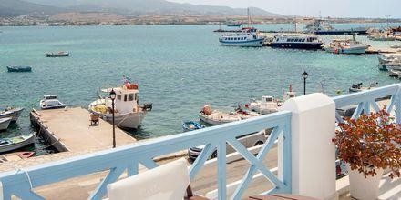Utsikt från hotell Mantalena på Antiparos, Grekland.