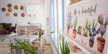 Restaurang på hotell Mantalena, Antiparos.