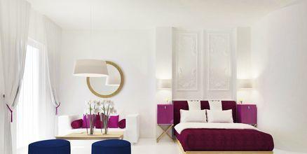 Svit på hotell Mar & Mar Crown Suites på Santorini, Grekland.