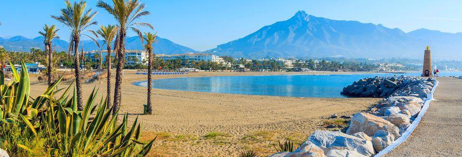 Marbella på Costa del Sol erbjuder härliga dagar på stranden.