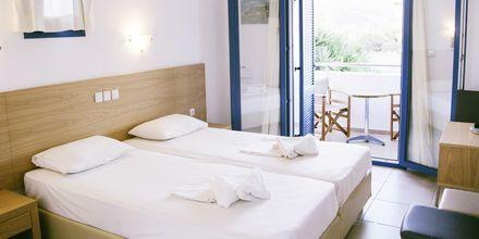 Dubbelrum på hotell Marcos Beach på Ios i Grekland.