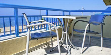 Balkong på hotell Marel i Rethymnon, Kreta.