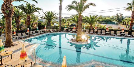 Poolområde på hotell Margarita på Zakynthos, i Grekland.
