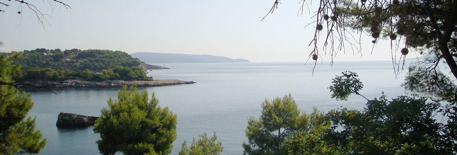 Utsikt från hotell Maria på Alonissos, Grekland.