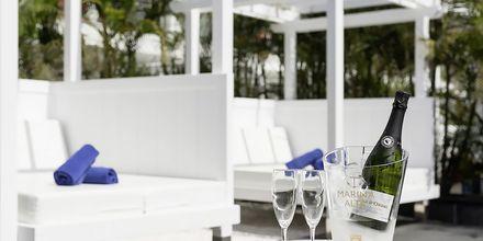 Relaxområde på Marina Suites i Puerto Rico på Gran Canaria.