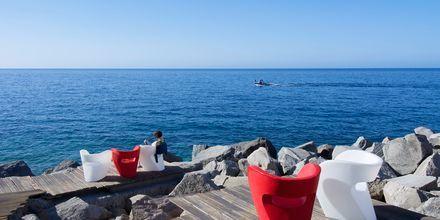 Terrass på Marina Suites i Puerto Rico på Gran Canaria.