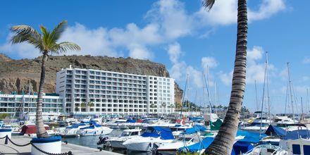 Marinan vid Marina Suites i Puerto Rico på Gran Canaria.