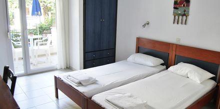 Dubbelrum på hotell Mario i Magali Ammos på Skiathos, Grekland.