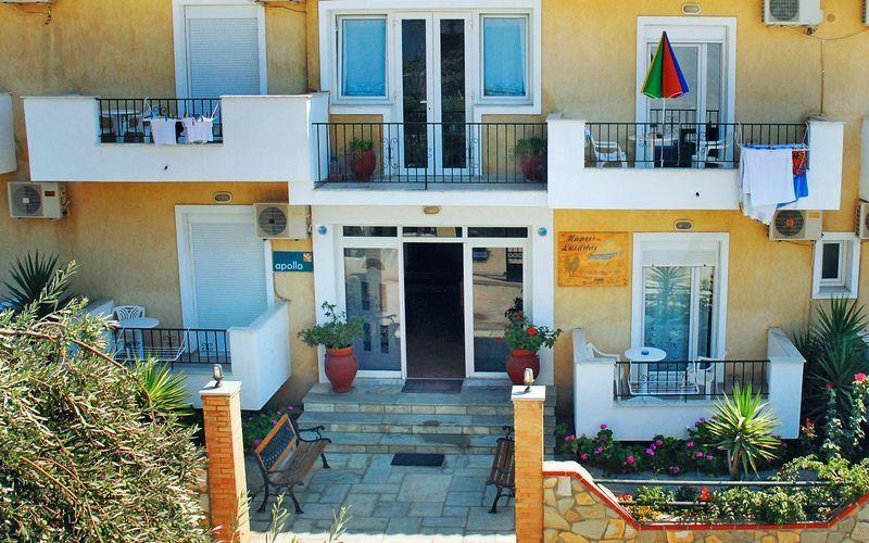 Hotell Mario i Megali Ammos på Skiathos, Grekland.