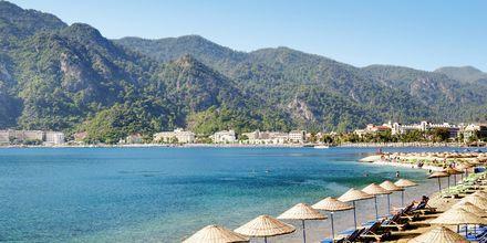 Strand i Marmaris, Turkiet.