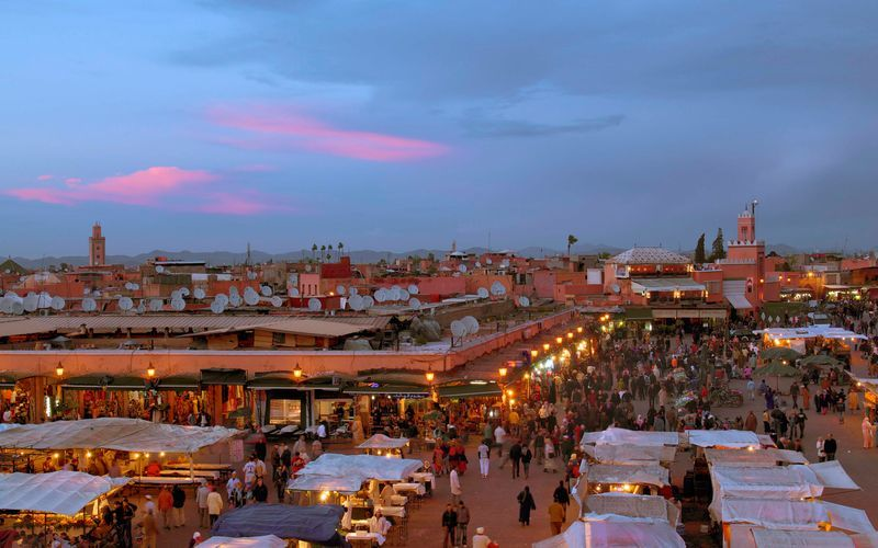 Marrakech i Marocko.