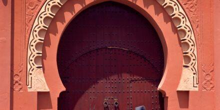Portal till Medinan i Marrakech, Marocko.