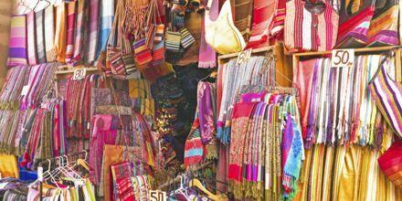 Marknad i Marrakech, Marocko.