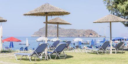 Stranden vid hotell Mary i Platanias på Kreta, Grekland.