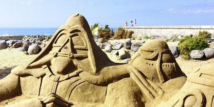 Sandskulpturer Maspalomas på Gran Canaria, Spanien.