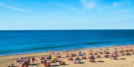Stranden i Maspalomas på Gran Canaria, Spanien.
