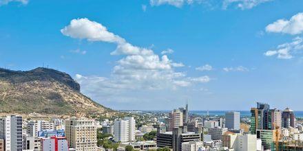 Huvudstaden Port Louise på Mauritius.