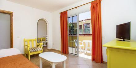 Större tvårumslägenhet på hotell Maxorata Beach i Corralejo, Fuerteventura.
