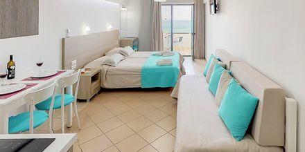 Enrumslägenhet på hotell Medusa i Rethymnon stad på Kreta, Grekland.