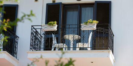 Balkong på hotell Mega Ammos i Sivota, Grekland.