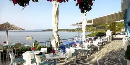 Restaurang i Megali Ammos på Skiathos.