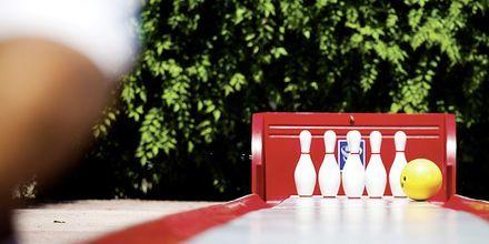Bowling på hotell Melas Holiday Village i Side, Turkiet.