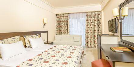 Dubbelrum på hotell Melas Holiday Village i Side, Turkiet.