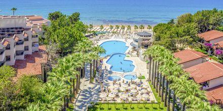 Poolområde på hotell Melas Holiday Village i Side, Turkiet.