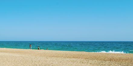 Stranden på hotell Melas Resort i Side, Turkiet.