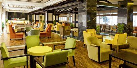 Loungen på hotell Melas Resort i Side, Turkiet.