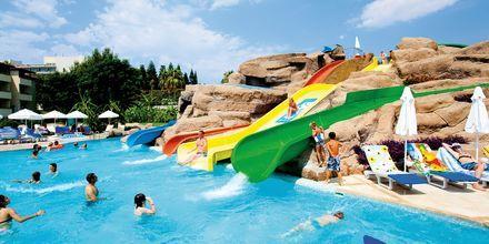 Vattenparken på hotell Melas Resort i Side, Turkiet.