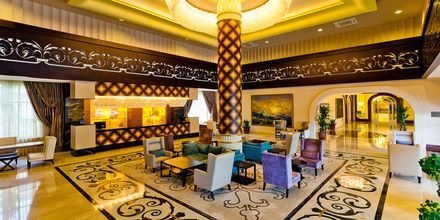 Lobbyn på hotell Melas Resort i Side, Turkiet.